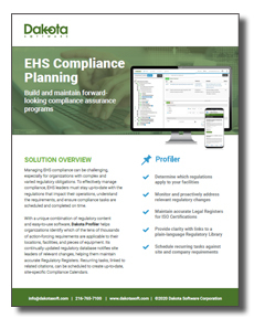 EHS Compliance Planning