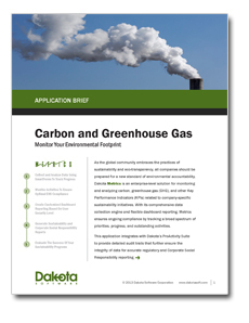 Carbon and Greenhouse Gas