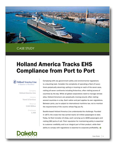 Holland America Tracks Compliance At Sea