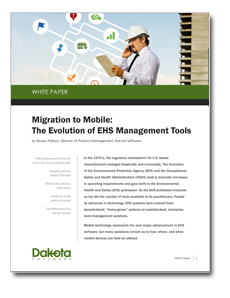 Migration to Mobile: The Evolution of EHS Management Tools