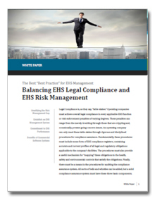 Balancing EHS Legal Compliance and EHS Risk Management