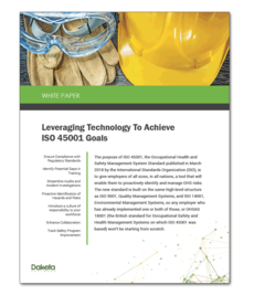 Leveraging Technology To Achieve ISO 45001 Goals