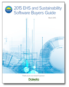 NAEM Research Report: 2015 EHS & Sustainability Software Buyers Guide