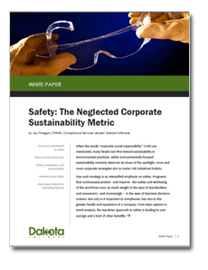 Safety: The Neglected Corporate Sustainability Metric